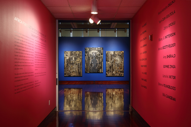AFRICA FORECAST: Fashioning Contemporary Life Installation view at the Spelman College Museum Fine Art, 2016