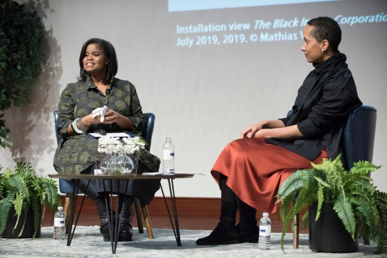 Andrea Barnwell Brownlee, Ph.D., Director, Spelman College Museum of Fine Art Daisy Desrosiers, Director of Artist programs, Lunder Institute  for AmericanArt, Colby College and Associate Curator of Theaster Gates: Black Image Corporation