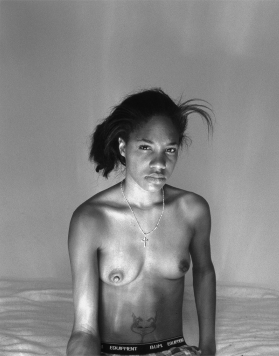 LaToya Ruby Frazier (American, born 1982), Self Portrait (October 7th, 9:30am), 2008; silver gelatin print, 16 x 20 inches. Purchased with support from Brooke Jackson Edmonds in support of the 15 x 15 Acquisitions Initiative, 2011.6-8.