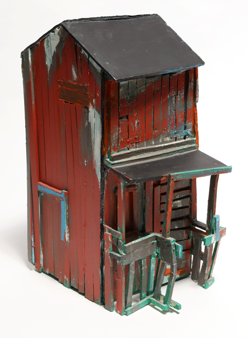 Beverly Buchanan (American, 1940 – 2015), The Williams House, 1998; foam core and acrylic paint, 18 x 8 x 12 inches. GiftofRuth Shack, 2014.1.